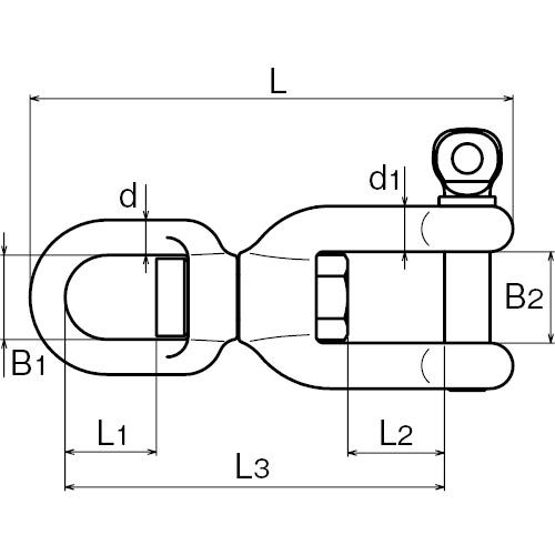ASANO スイベルSC 16mm 製品図面・寸法図
