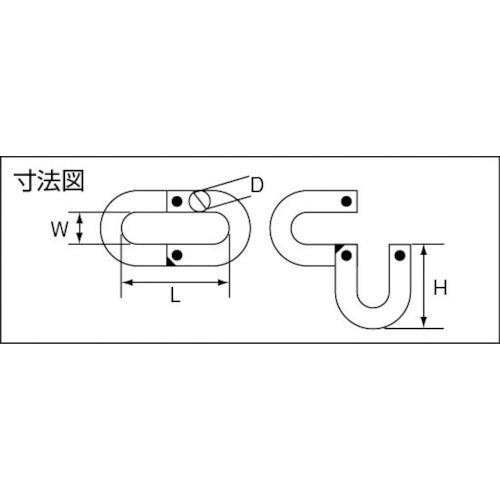 水本 ステンレス Jジョイント 線径8mm長さ38mm 製品図面・寸法図