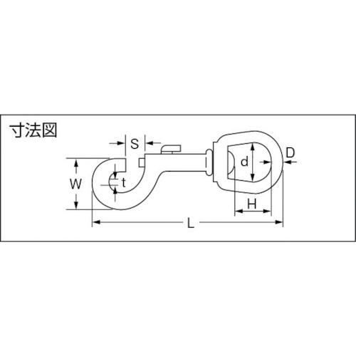 水本 ステンレス ナスカン 長さ91mm 製品図面・寸法図