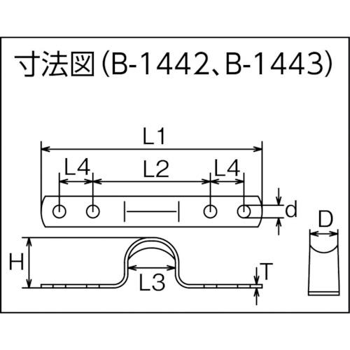 水本 ステンレス シートアイストラップ 幅10mmピッチ42mm 製品図面・寸法図