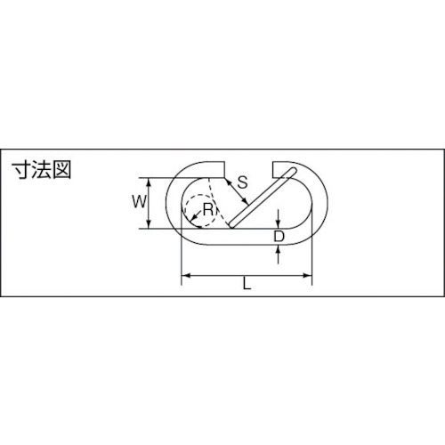 水本 ステンレス O型フック 線径2mm長さ15mm 製品図面・寸法図