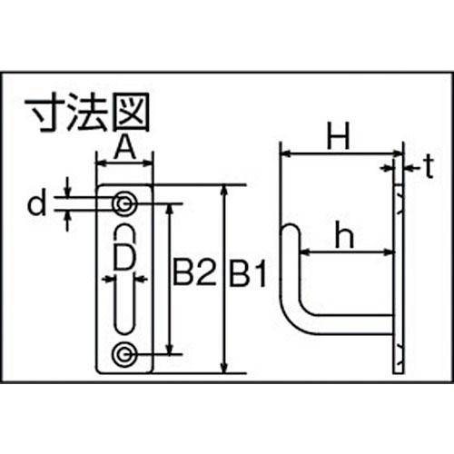 水本 ステンレス ロングアイフック 30mm×120mm 製品図面・寸法図
