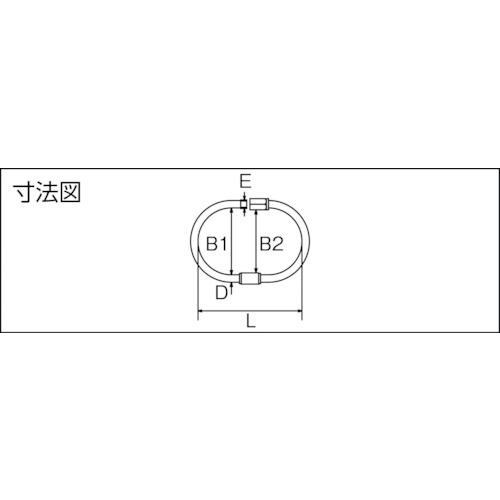 水本 ステンレス ターンキャッチ 線径6mm長さ85mm 製品図面・寸法図