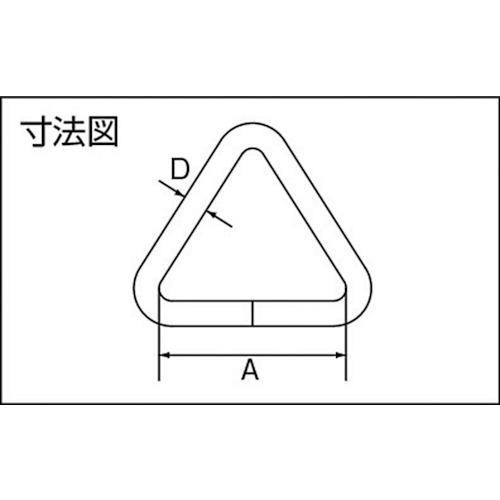 水本 ステンレス 三角リンク 線径3mm内幅30mm 製品図面・寸法図