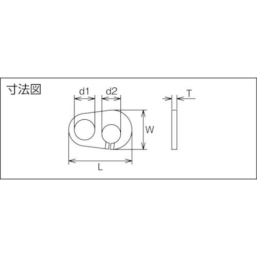 水本 ステンレス クリップジョイント 全長23.5mm (1S(袋)=2個入) 製品図面・寸法図