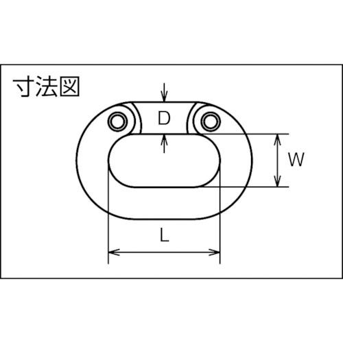 水本 ステンレス コネクティングリンク 線径16mm長さ48mm 製品図面・寸法図