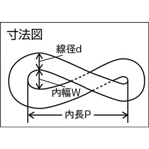水本 ステンレス マンテルチェーン 30m 線径2.5mm 製品図面・寸法図