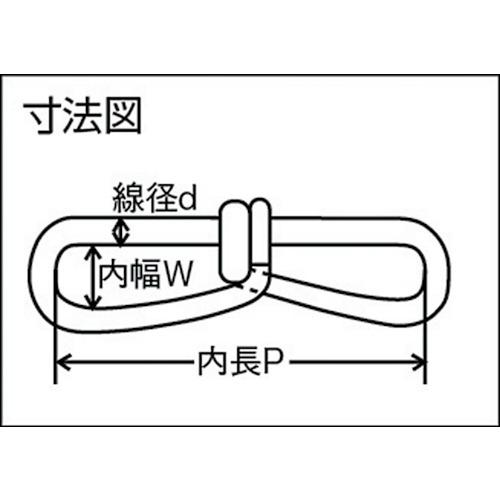 水本 ステンレス ビクターチェーン 30m 線径2mm 製品図面・寸法図