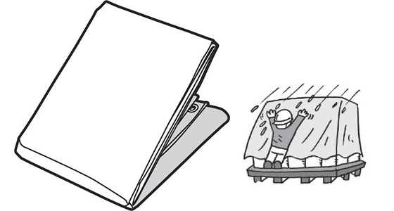 UVシートの使用イメージ